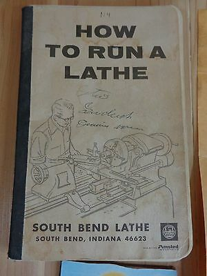 HOW TO RUN A LATHE Paperback Book 1966 South Bend Indiana Amsted Industries