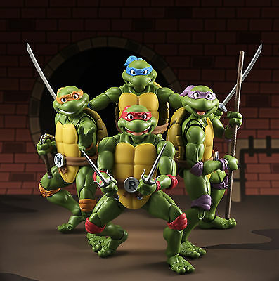 S.H Figuarts Teenage Mutant Ninja Turtles 4 Pack Figures USA Bandai Tamashii SH