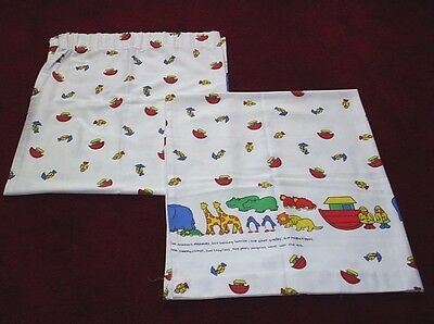 Vintage* Noah's Ark Pictorial Nursery Curtains - Mothercare*  W 44ins L 52ins