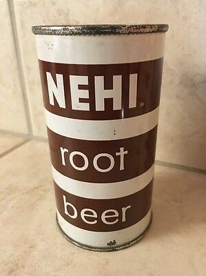 NEHI Root Beer Soda Flat Top Can 12oz