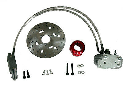 NEW Racing Go Kart Hydraulic Brake Kit Bar Stool Rotor & Caliper Disc Part 40mm