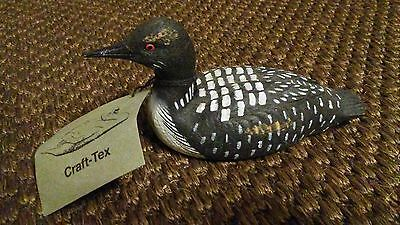 Craft-Tex Wood-Looking Resin Loon Duck