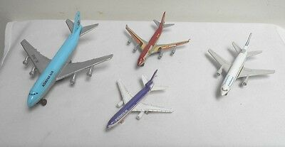 Lot of 4 Airline Airplanes Metal & 2 Butter Pats - Airline Boac & AAL