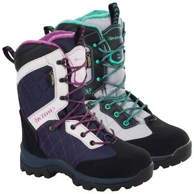 Klim Women's Gore-Tex Insulated Aurora GTX Boot - Blue / White or  Gray / Mint