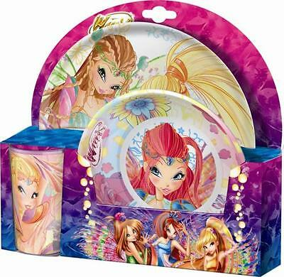 Winx Club - Bloomix - Set Tableware Plate, Deep Plate - Bowl, Cup New