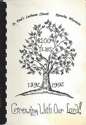 Kenosha Wi 1992 St Paul's Lutheran Church Cook Book Growing With Our Lord * Rare