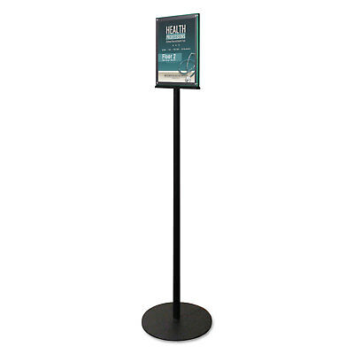 deflecto Double-Sided Magnetic Sign Stand 8 1/2 x 11 Insert 56-inch High