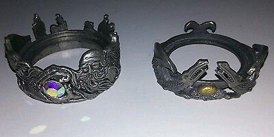 Set of (2) 1999 Scents Accents Pewter Dragon Candle Holders