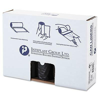 Inteplast Group Low-Density Can Liner 38 x 58 60gal 1.4mil Black 20/Roll 5