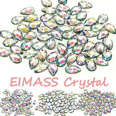 Flat Back Shapes, EIMASS® Resin Tiny Crystals for Costume Embellishment