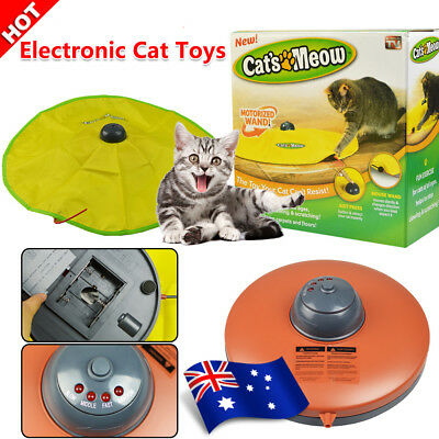 Funny Electronic Interactive Cats Cat's Meow Toy Undercover Fabric Moving Mouse