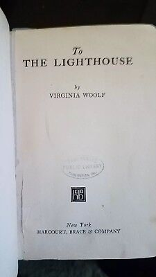Virginia Woolf, 1st edition, 2nd printing, 1927, To the Lighthouse