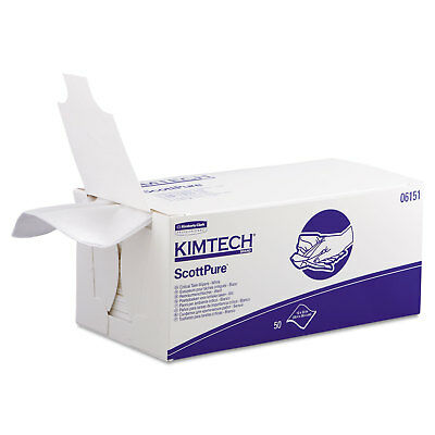 Kimtech SCOTTPURE Critical Task Wipers 12 x 23 White 50/Box 8 Boxes/Carton