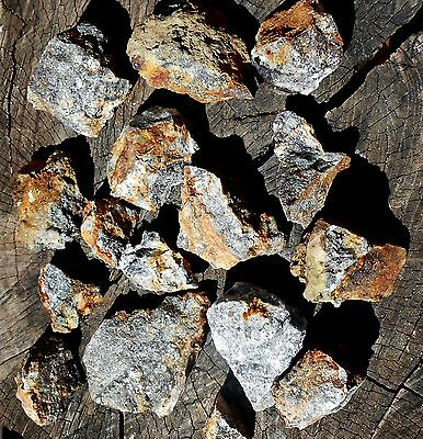 16 Gold & Silver Ore HUNKS Broken from the Mother Lode 58 oz  #943 Shop Clean Up