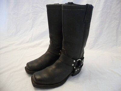 Chippewa 27868 Black Leather Motorcycle Harness Pull On Boots Mens Size 6D