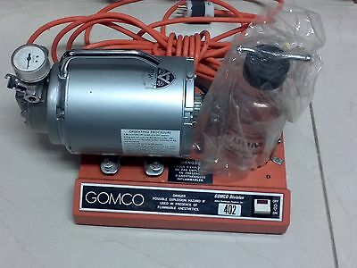 Gomco Model 402 Aspirator/Vacuum Pump with Glass Canister