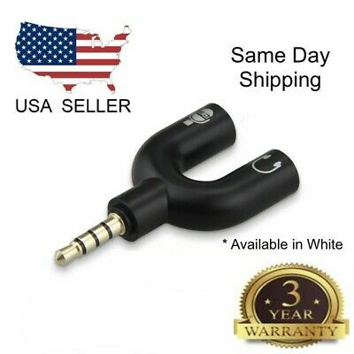 4 Position 3.5mm Stereo Splitter Audio to Mic Headset Jack Plug Y Adapter