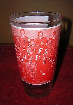 Vtg. Philadelphia Flyers Stanley Cup Champs 1975 Team Picture Drinking Glass