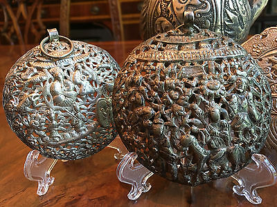 A Group of Antique Chinese Low Grade Silver Items.