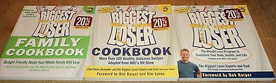 "THE BIGGEST LOSER ""BOOK"" COLLECTION - Weight-Loss & Cookbooks - Lot of 3"