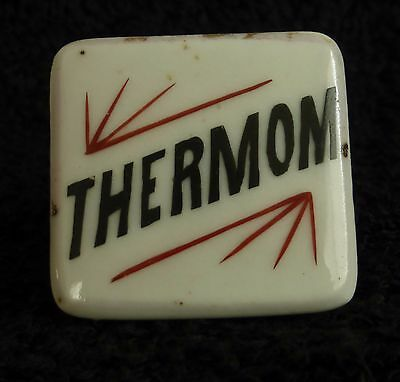 Thermom. Thermometer Antique Porcelain Apothecary Pharmacy Cabinet Drawer Knob