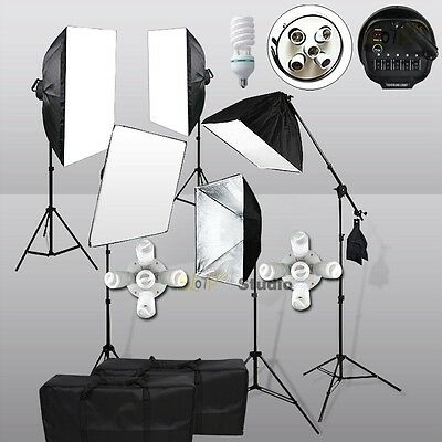 6175W Soft Box Boom Light Photography Photo Studio Continuous Lighting Stand Kit