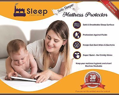 TSF Premium Jersey Cotton 100% Waterproof Mattress Protector for Sofa Bed