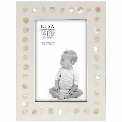 "4"" x 6"" Pearl Design Baby Picture Frame Home Hanging Photo Display Holder Decor"