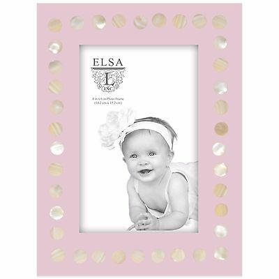 "4"" x 6"" Pearl Design Baby Photo Frame Home Hanging Picture Display Holder Decor"