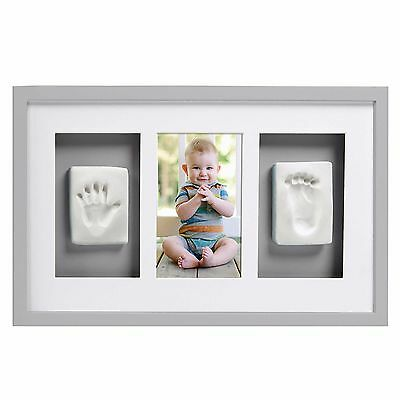 Newborn Baby Handprint Footprint Photo Frame Wall Hanging Picture Holder Decor