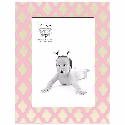 Pink Scroll Design Baby Picture Frame Hanging Wall Picture Display Holder Decor