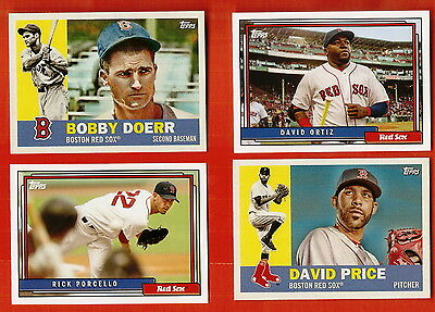 2017-2016 Topps Archives Boston Red Sox 20 Card Team Lot