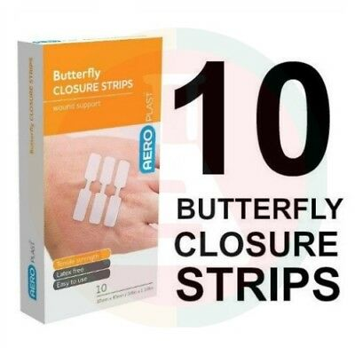 Butterfly Closures (Pkt 10) Wound Dressings Strips First Aid