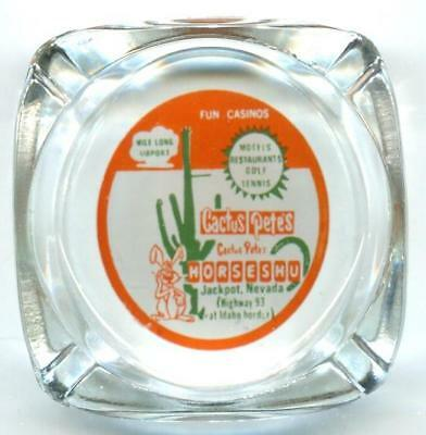 Jackpot Nevada CACTUS PETE'S / HORSESHOE Casino Ashtray