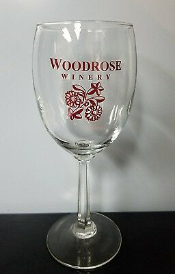 Woodrose Winery Stemmed Wine Glass Stonewall Texas
