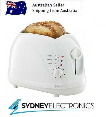 Tiffany 2 Slice Cool Touch White Toaster - TA47