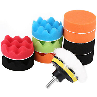 12Pcs 3'' Sponge Polishing Waxing Foam Buffing Pads Kit For Car Polisher Hot CO