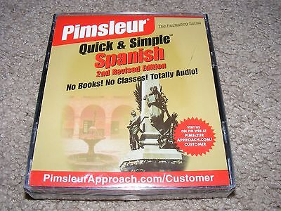 Pimsleur Quick & Simple Spanish 2nd Revised Edition Audio Book FREE SHIPPING
