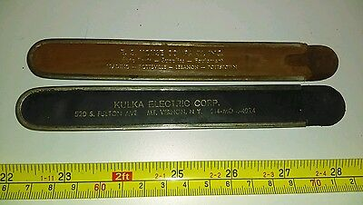 Vintage Kulka Electric Corp NY & Youse Co PA Advertising Machinist Ruler Cases