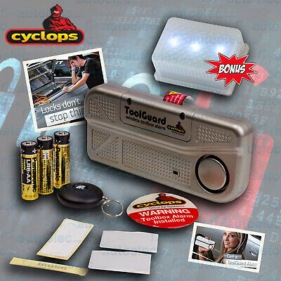Cyclops Toolguard Toolbox Lid Security Alarm With Wireless Remote + Led Light
