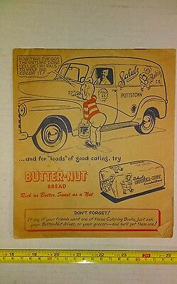 Vintage Schulz Butter Nut Bread Advertising Coloring Book Great Graphics Rare
