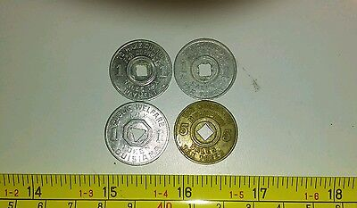Vintage State Tax Tokens Mississippi and Louisiana Lot Rare