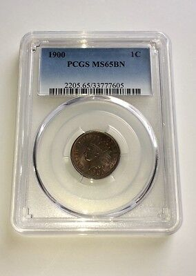 1900 Indian Head Cent PCGS MS65BN