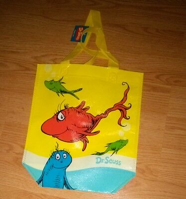 """Dr. Seuss - Fishes Story Reusable Tote BAG NEW approx 12x10"""""""
