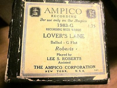AMPICO Player Piano Roll #1983-G Lover's Lane - G Flat, Played by Lee S. Roberts