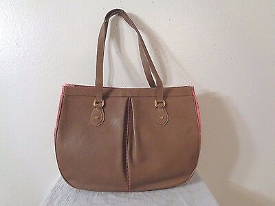 Vintage Gucci Brown Textured Leather Large Tote Purse
