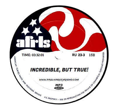 Incredible But True (80 Shows) Old Time Radio Mp3 Cd