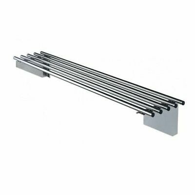 Simply Stainless Pipe Wall Shelf 2400x300mm Stainless Steel Kitchen