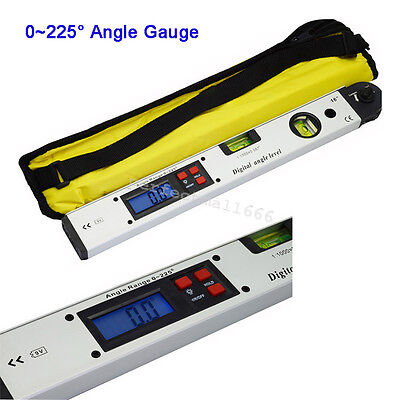 Digital Inclinometer Angle Finder Spirit Level Tool 0~225° Range Gauge Meter