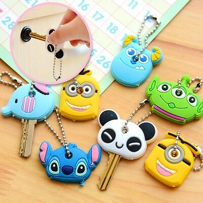 Cartoon Lovely Key Cover Chain Cap Panda Keychain Key Ring Gift Topper Tag